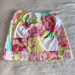 Lilly Pulitzer Retro Patchwork Butterfly Skirt 8